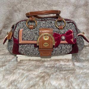 COACH Wool and Suede handbag